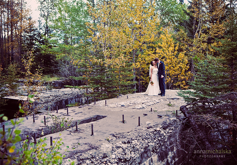 two jack lake banff wedding photography anna michalska elopement