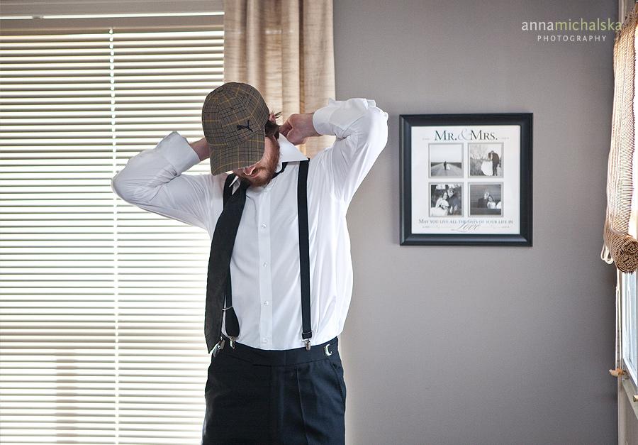 calgary wedding photography anna michalska groom getting ready