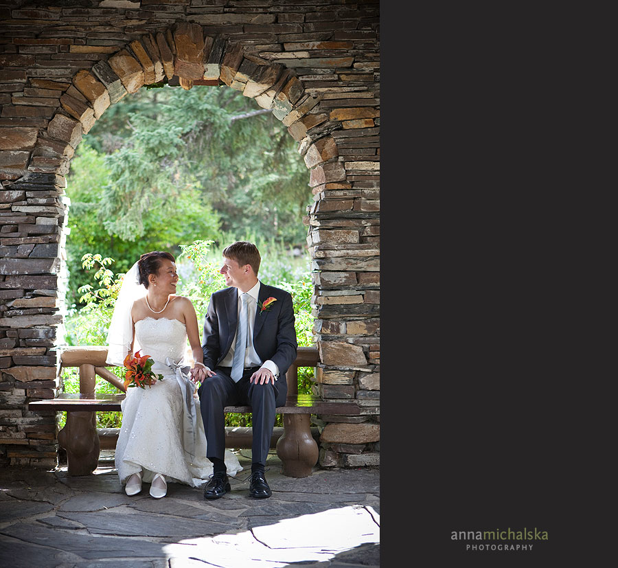 banff wedding photographer anna michalska two jack lake elopement cascades of time gardens