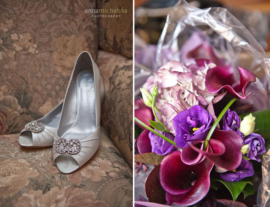 calgary wedding photographer anna michalska bride shoes bouquet