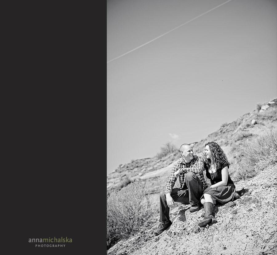 drumheller engagement couple photography anna michalska calgary alberta badlands