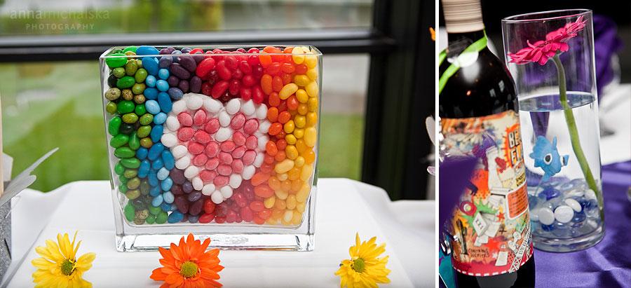 calgary wedding photographer anna michalska triwood community association center candy bar