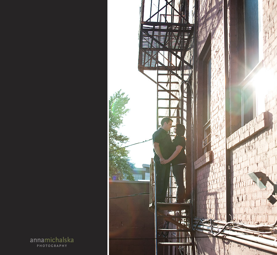 calgary engagement wedding photography anna michalska inglewood stairs
