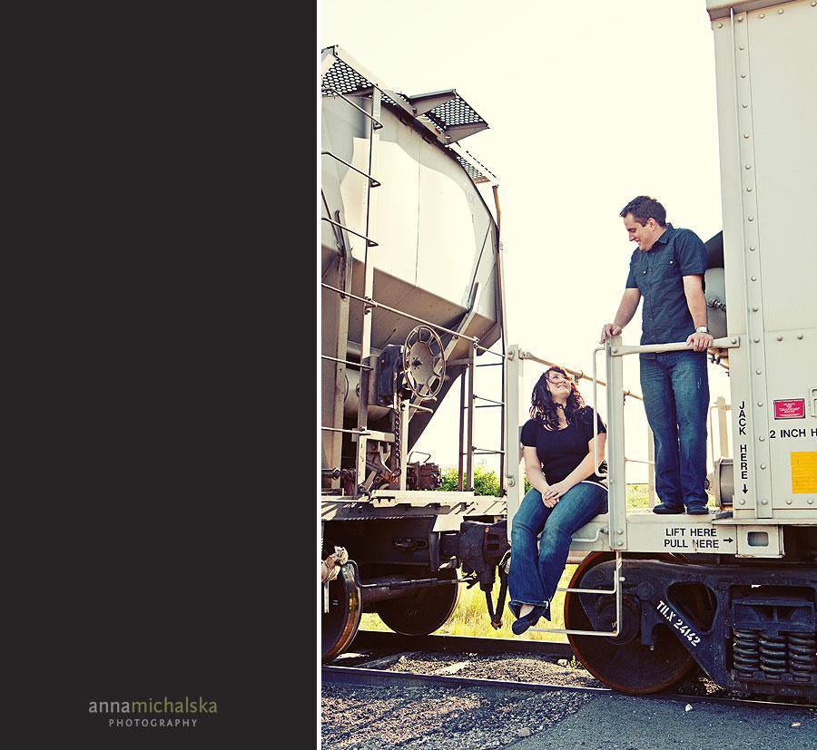 calgary engagement wedding photography anna michalska inglewood bird sanctuary train