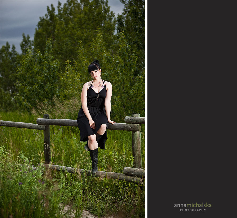 portrait photography anna michalska calgary dark rain clouds north glenmore park