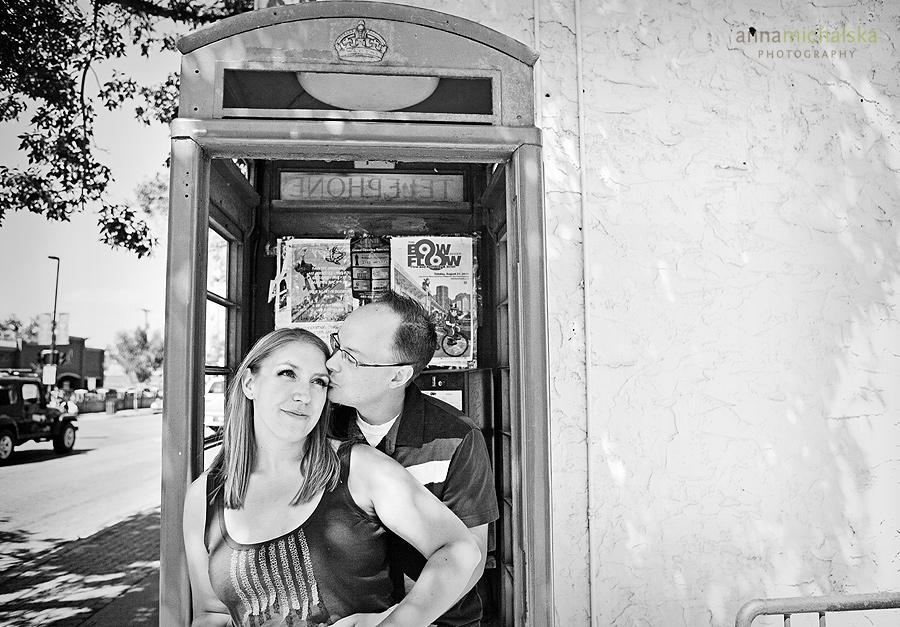 calgary engagement photographer anna michalska kensington red phone booth