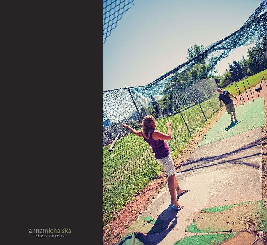 calgary engagement photographer anna michalska riley park baseball