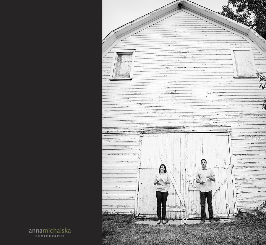 calgary engagement session anna michalska photography white barn