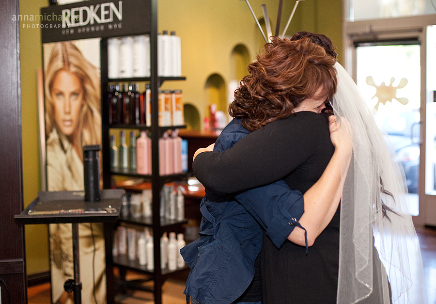 calgary wedding photographer anna michalska logix hair salon bride
