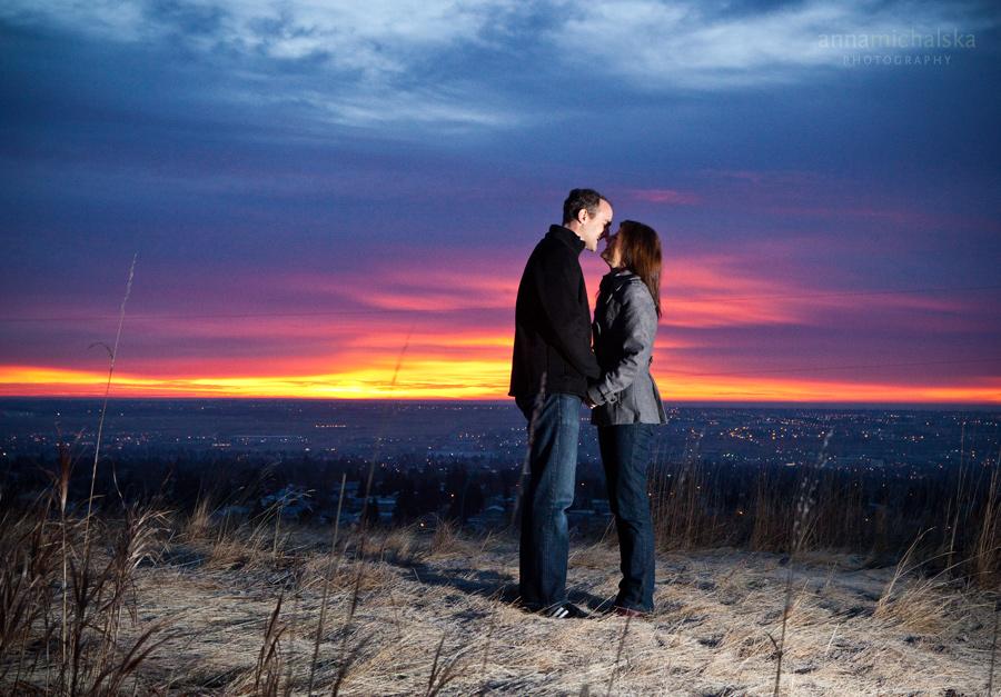 calgary couples anna michalska photography sunrise