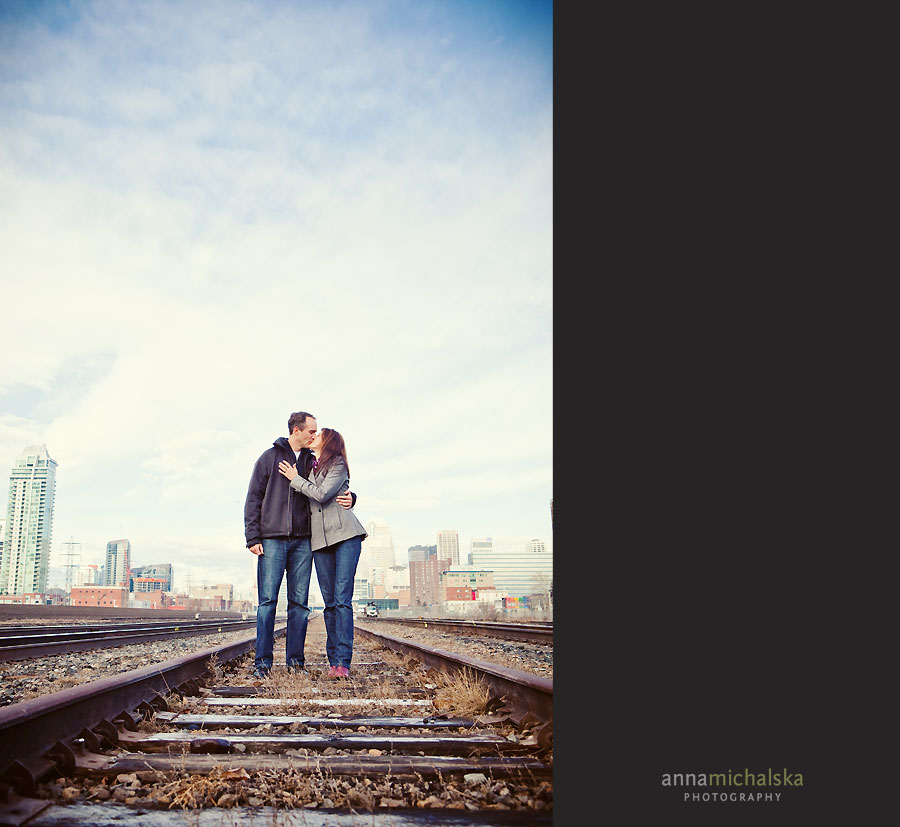 calgary couples wedding anniversary photographer anna michalska train tracks