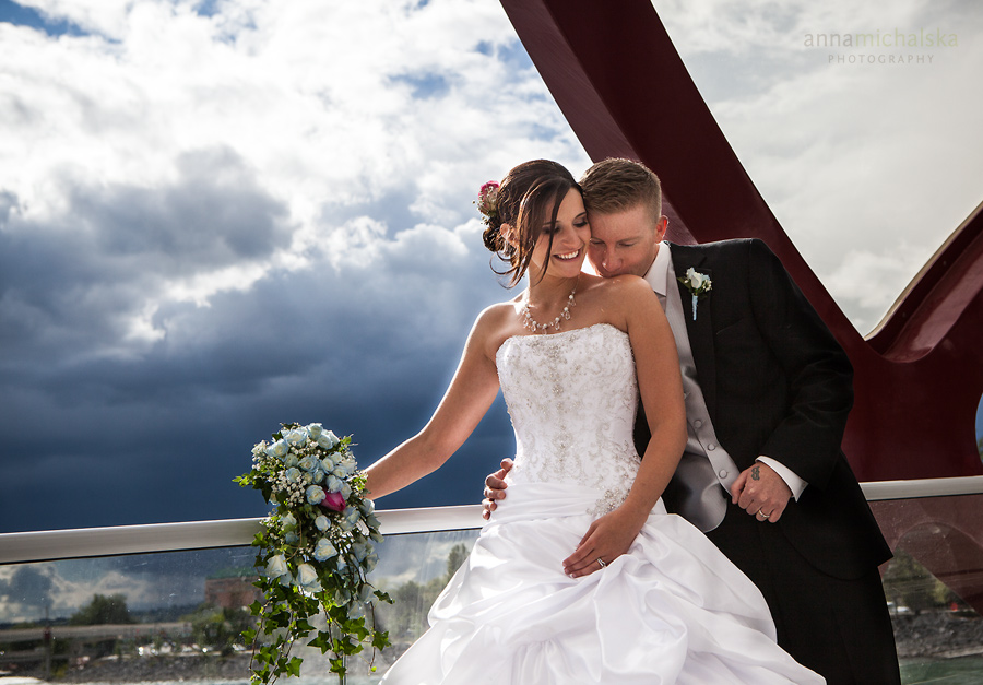 calgary wedding photographer anna michalska peace bridge storm clouds