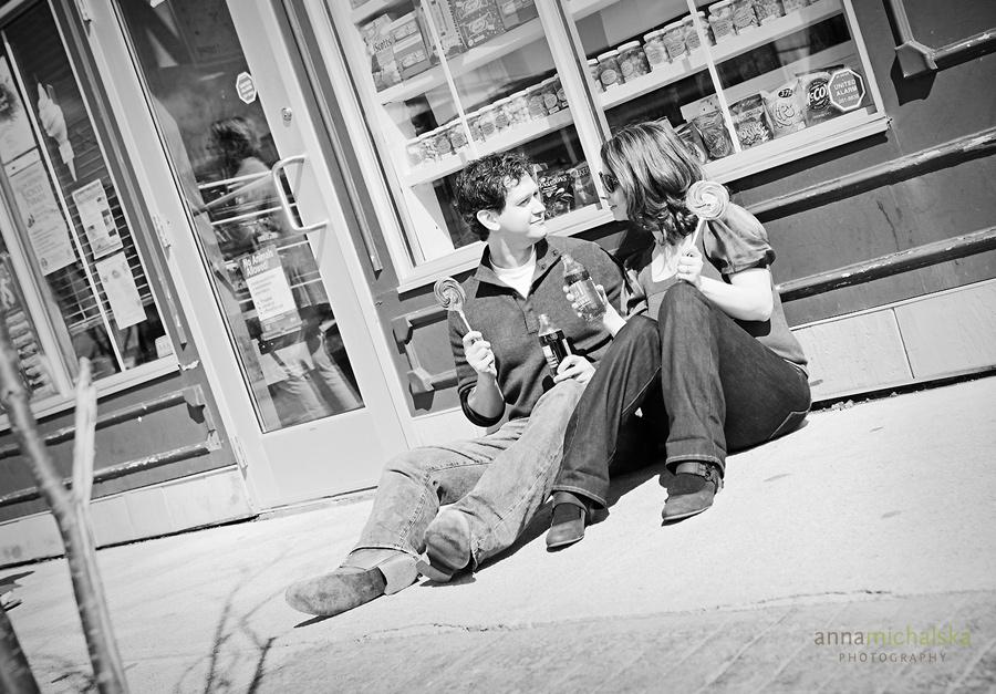 calgary engagement photographer anna michalska candy store shop shoppe
