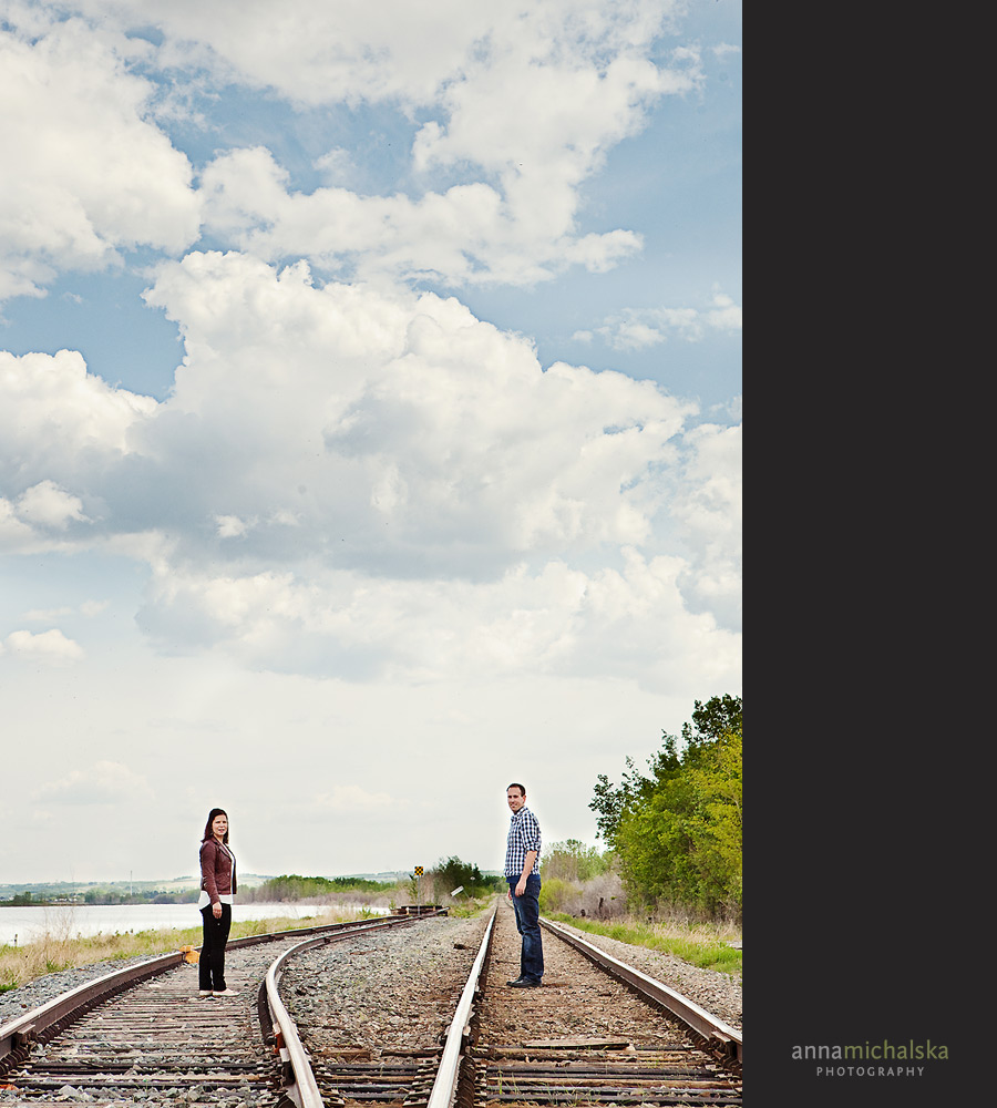 calgary engagement photographer anna michalska graffiti bridge train tracks