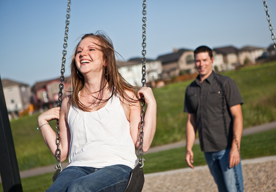 calgary engagement photographer anna michalska swings playground