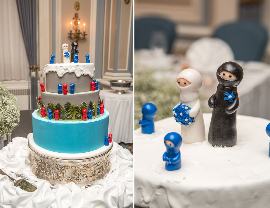 calgary wedding photographer anna michalska fairmont palliser wedding cake