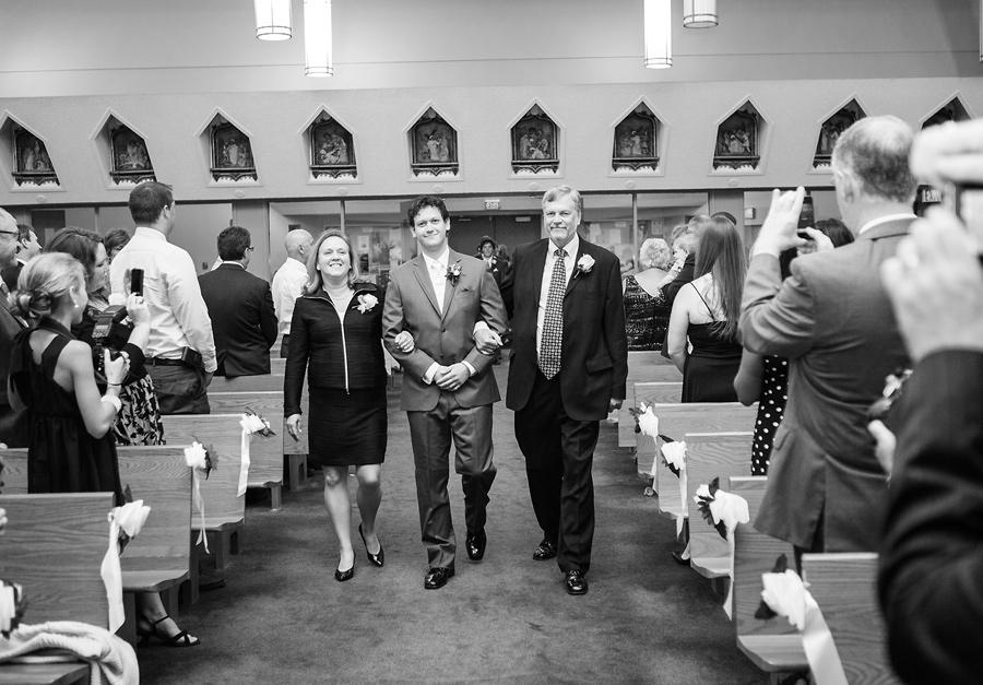 calgary wedding photography anna michalska bride st. patrick parish church ceremony