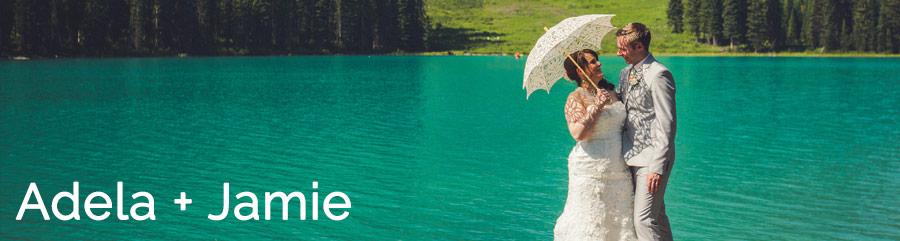 emerald lake lodge wedding with gatsby theme bride and groom lace umbrella