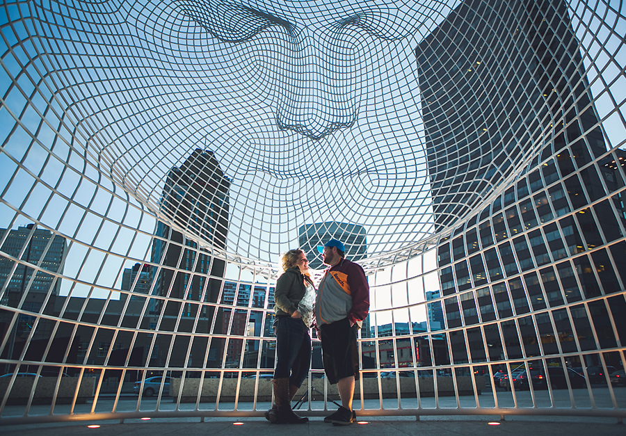 calgary engagement photographer anna michalska photography the bow downtown