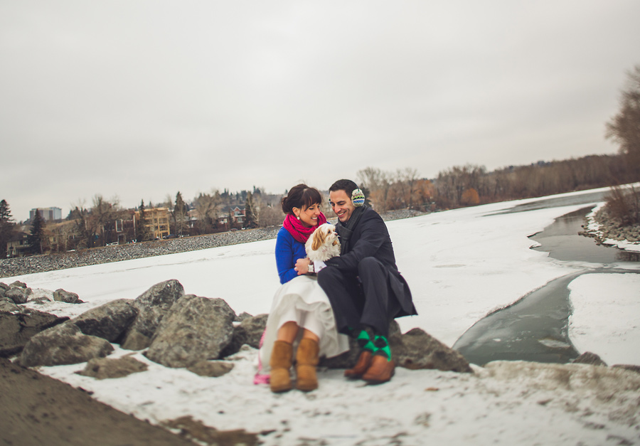calgary wedding photographer anna michalska trash the dress winter