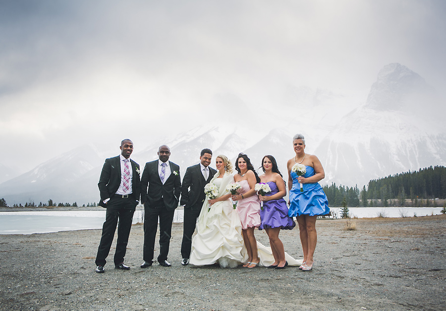 canmore nordic centre winter wedding anna michalska photography calgary