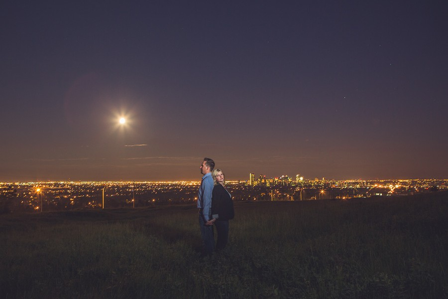 calgary engagement photographer anna michalska super moon supermoon