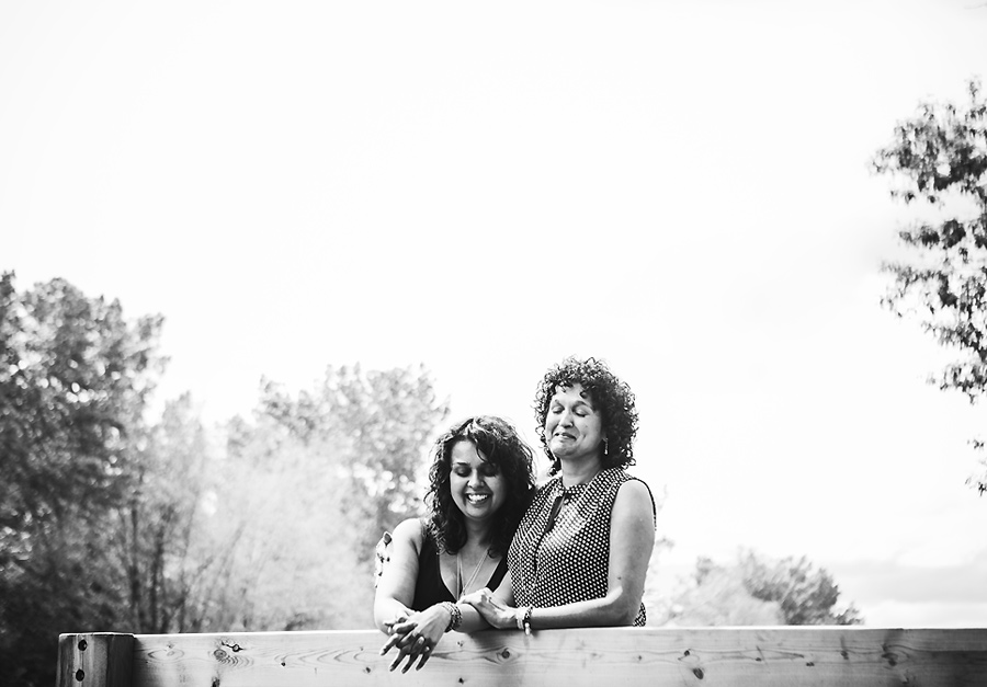 mother daughter laughing portraits black and white
