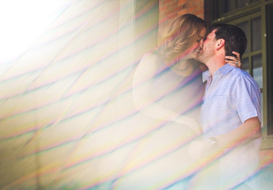 east village calgary couple photo using prism