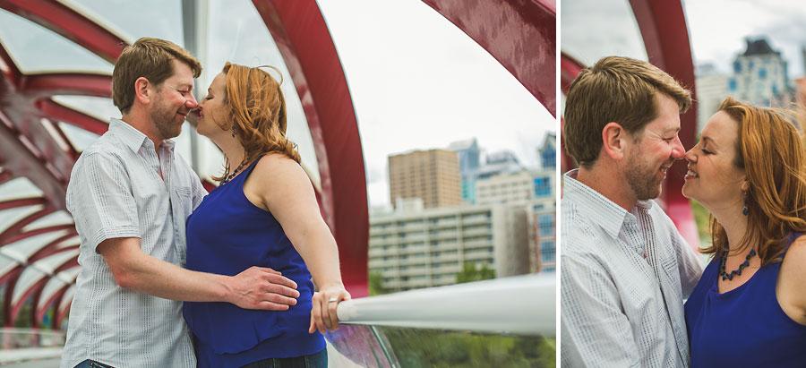 calgary peace bridge couple engagement