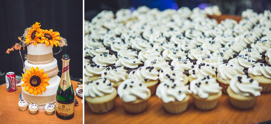 cake and cupcakes cowboys shotgun wedding