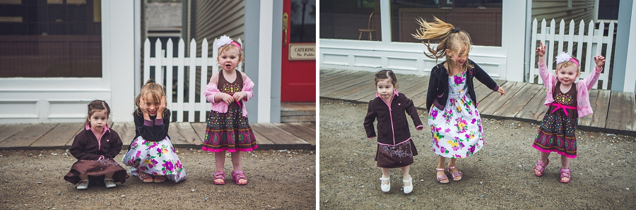little girls goofing around heritage park family session anna michalska
