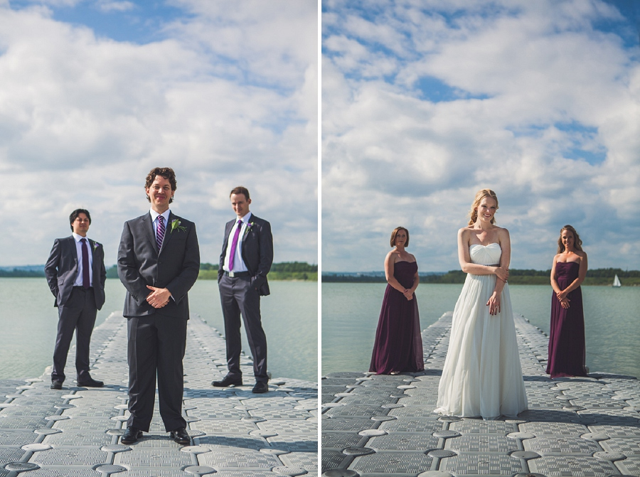bridal party portraits heritage park wedding calgary south glenmore park