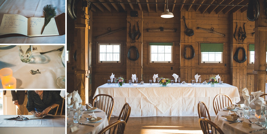 country themed head table heritage park wedding calgary