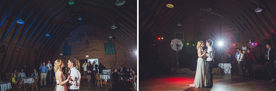 gunn's dairy barn first dance heritage park wedding calgary