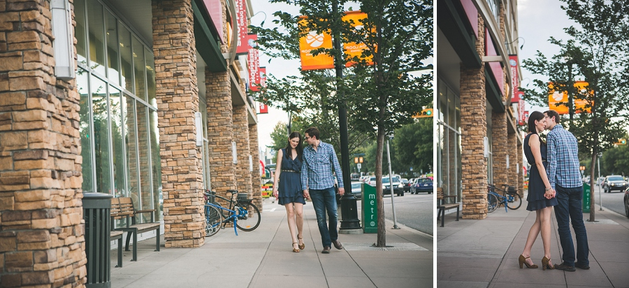 couple walking marda loop golden hour engagement session