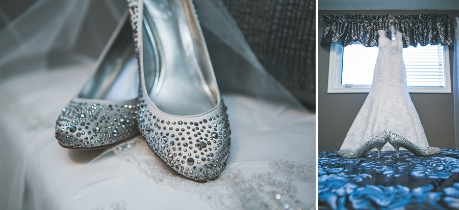 bridal shoes and dress calgary wedding photographer anna michalska peacock themed wedding