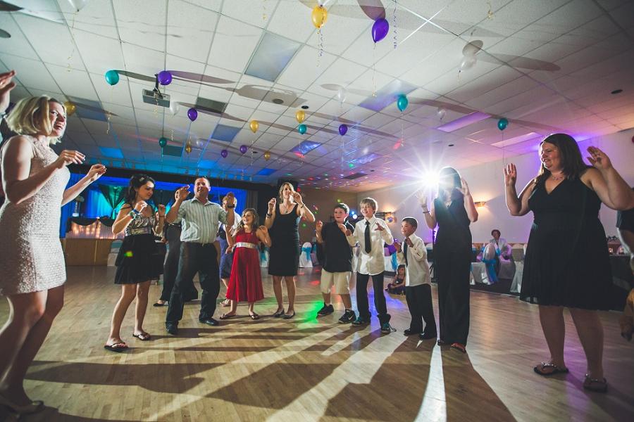 reception dancefloor guests calgary wedding photographer anna michalska