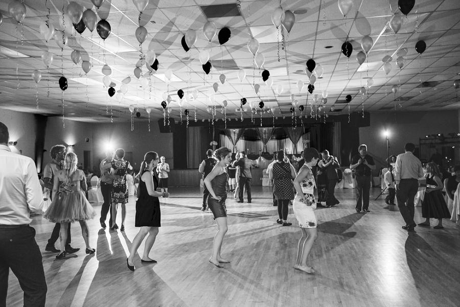 bridesmaids dancing calgary wedding photographer anna michalska