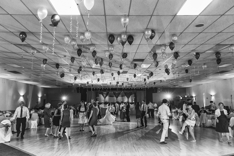 balloon decorations wedding reception calgary wedding photographer anna michalska