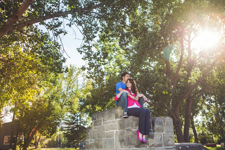 calgary engagement session downtown rundle ruins