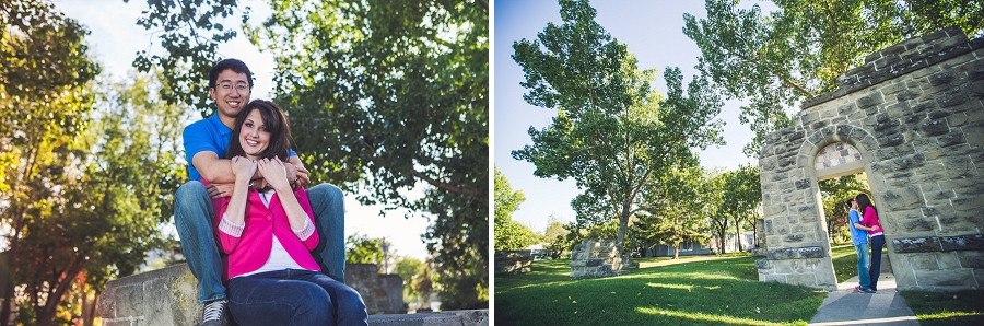 calgary couple engagement session rundle ruins