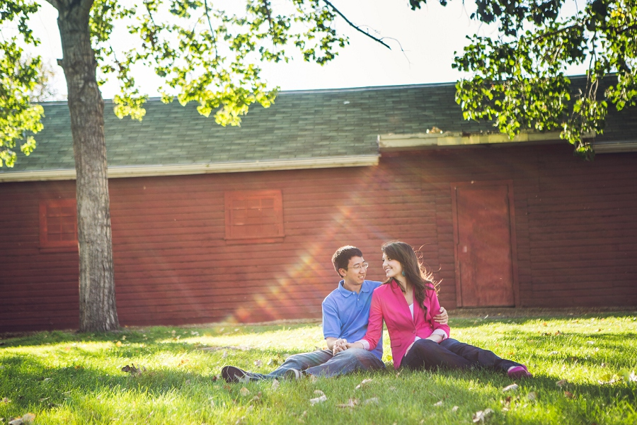 calgary engagement session rundle ruins red building