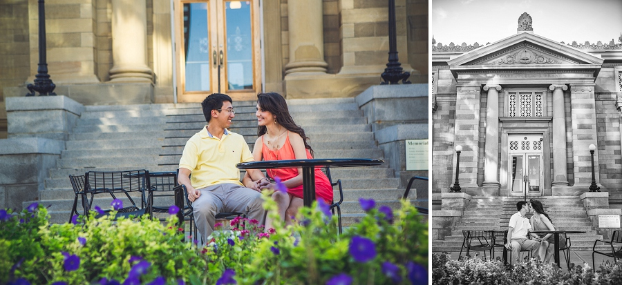 central memorial park library calgary engagement session