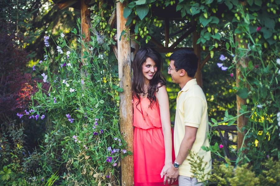 couple in gazebo reader rock gardens calgary engagement session