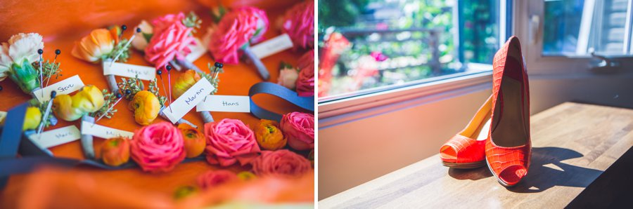 orange yellow citrus flowers orange high heels calgary wedding photographers anna michalska