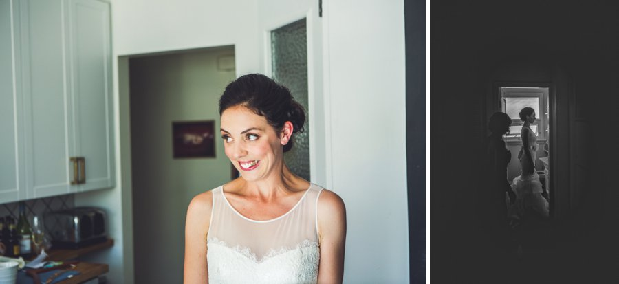 bride smiling getting ready calgary wedding photographers anna michalska