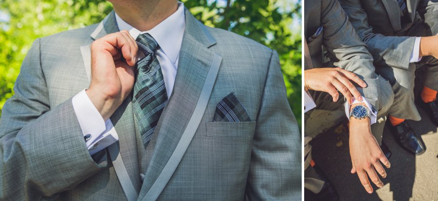 groom's tie and watch calgary wedding photographers anna michalska