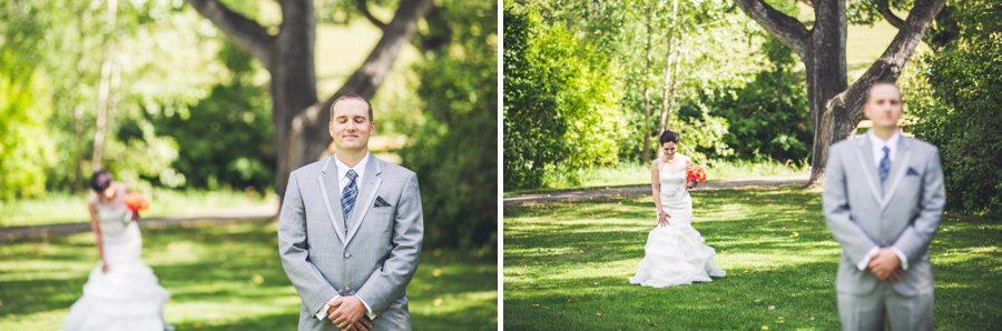 first look confederation park calgary wedding photographers anna michalska