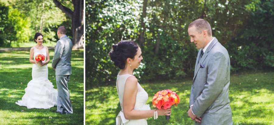groom surprised first look confederation park calgary wedding photographers anna michalska