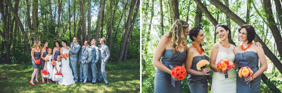 fun bridal party poses confederation park calgary wedding photographers anna michalska